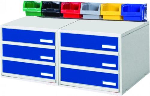 Crash Cart Accessories 2 Cabinet & 6 Utility Bins