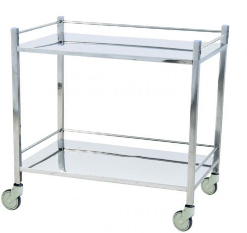 Instrument Trolley - S.S - 2 shelves