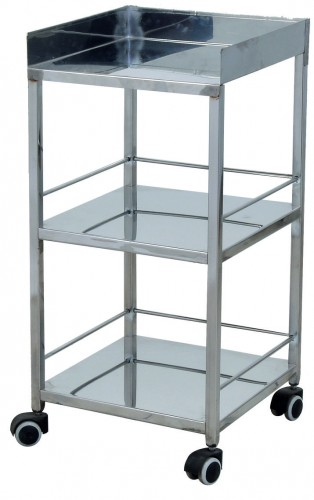 Bed Side Trolley - S.S - 3 shelves
