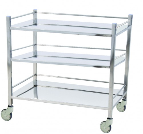 Instrument Trolley - S.S - 3 shelves